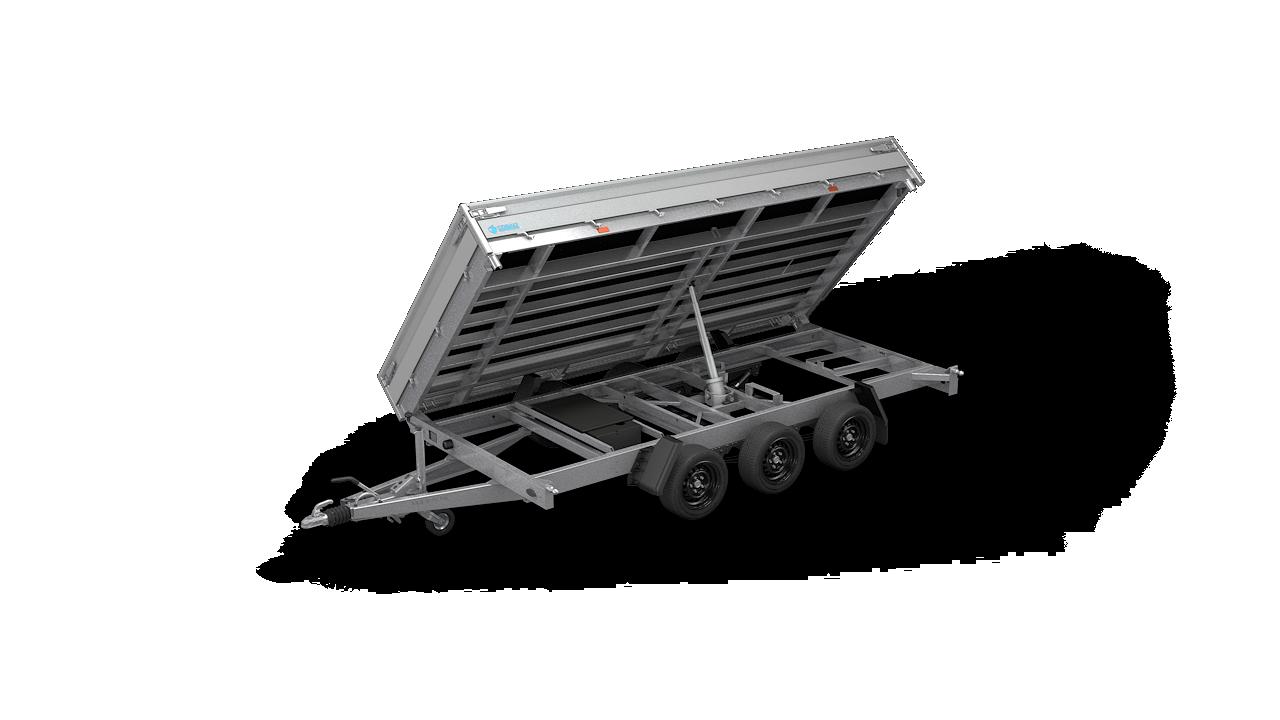 HAPERT aanhangwagen COBALT HM-3 driezijdig kantelende kipper
